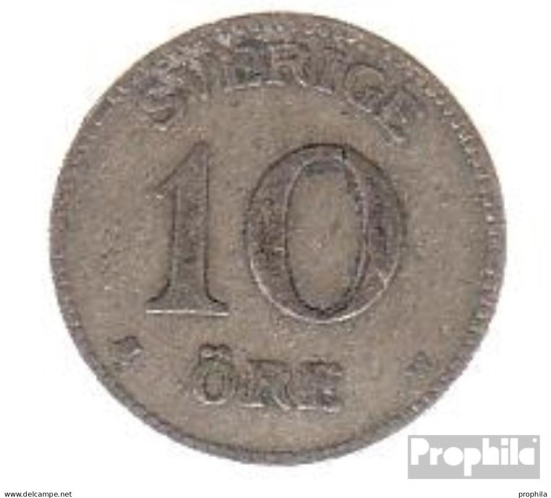 Schweden KM-Nr. : 780 1938 Sehr Schön Silber Sehr Schön 1938 10 Öre Gekröntes Wappen - Schweden