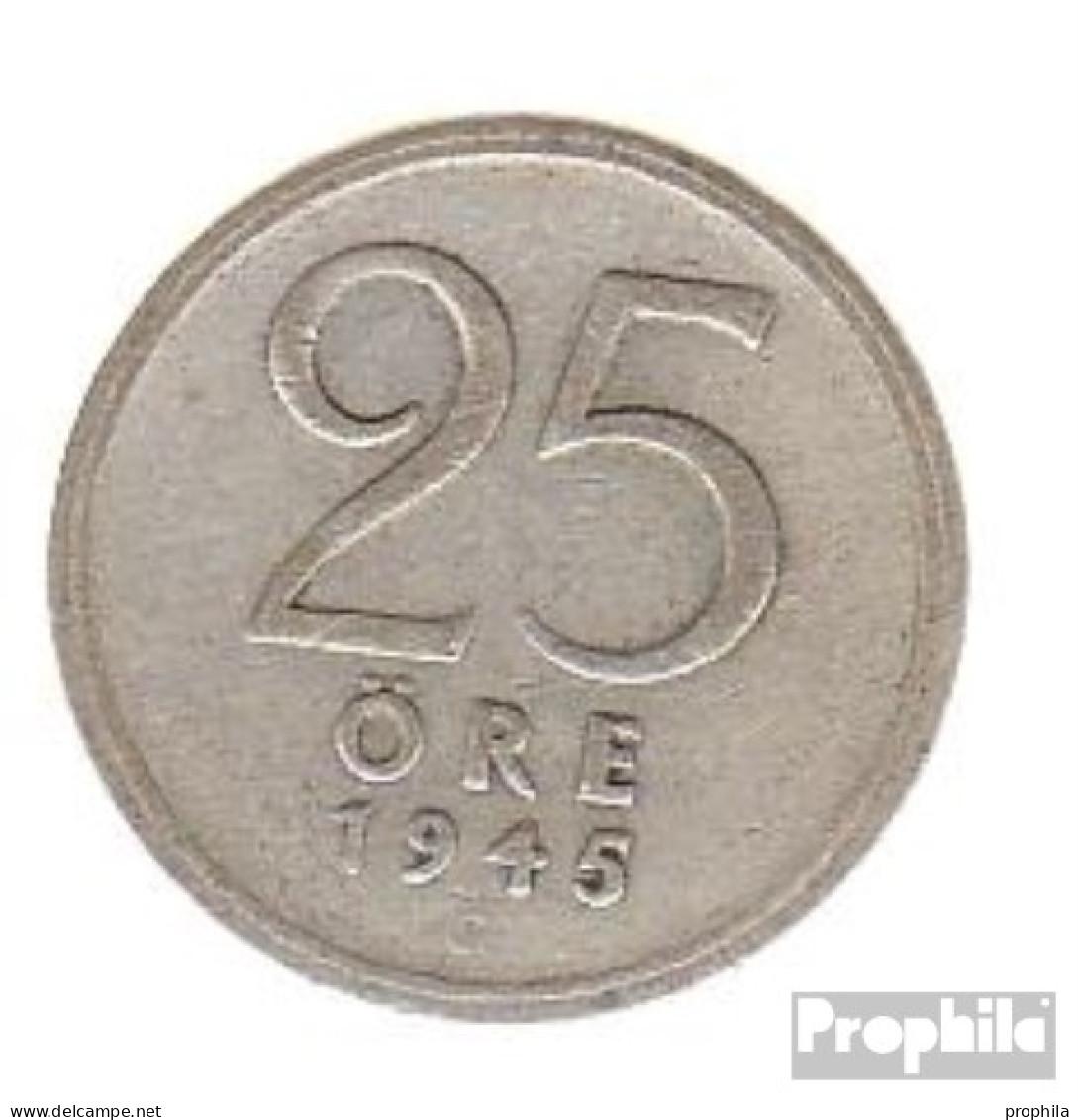 Schweden KM-Nr. : 816 1943 Sehr Schön Silber Sehr Schön 1943 25 Öre Krone - Schweden