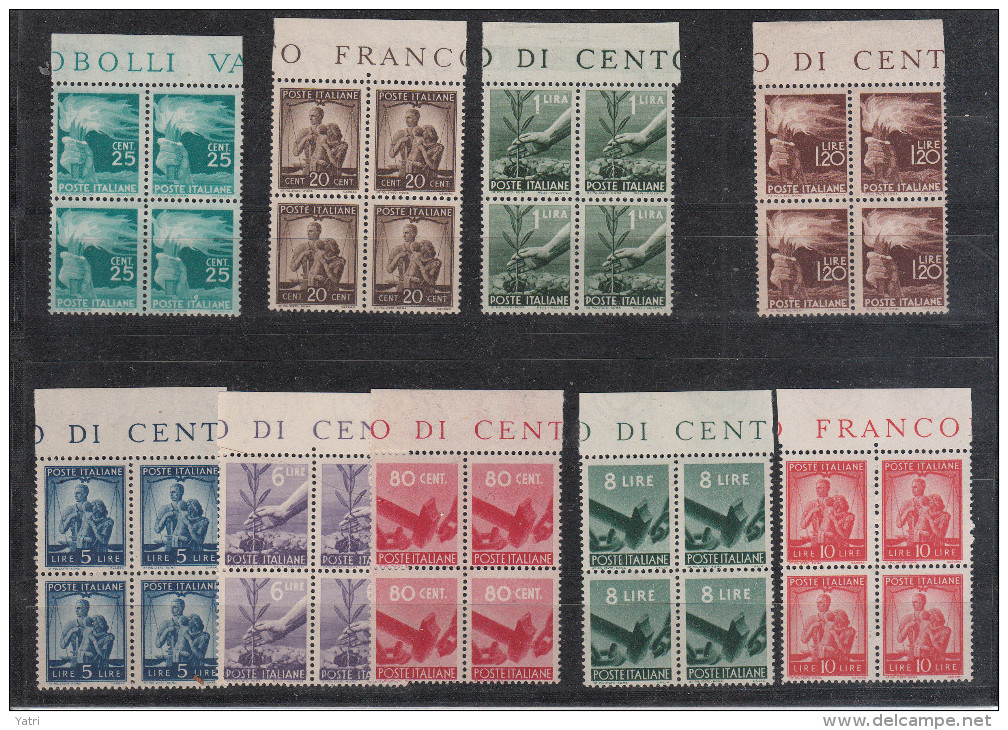Italia - 1945 - ** Democratica In Quartine (Sottoriva, Alberto Diena) - 6. 1946-.. Repubblica