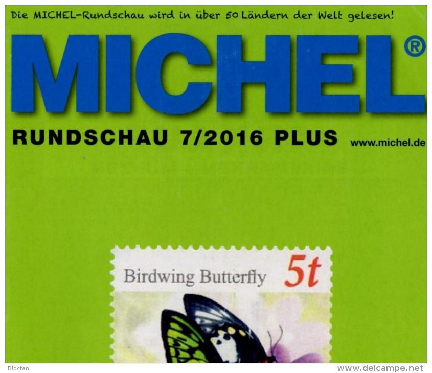 Briefmarken Rundschau MICHEL 7/2016-plus Neu 6€ New Stamps Of World Catalogue/magacine Of Germany ISBN 978-3-95402-600-5 - Deutsch