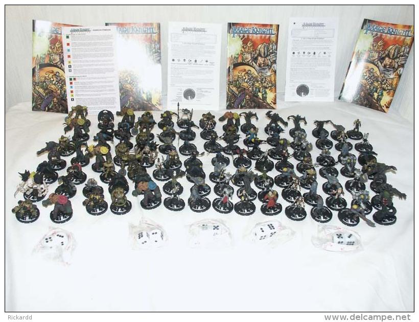 100 Pcs Mage Knight Figures Etc - Action- Und Spielfiguren