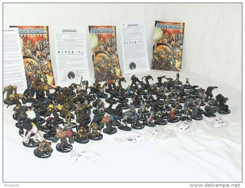 100 Pcs Mage Knight Figures Etc - Non Classés