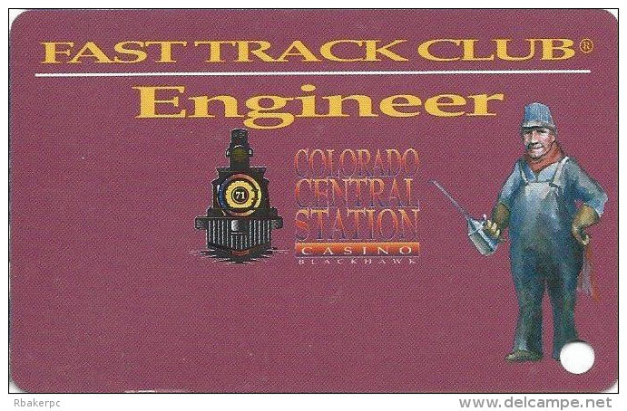 Colo. Central Station Casino Black Hawk, CO - Slot Card - PPC In Box (BLANK) - Casino Cards