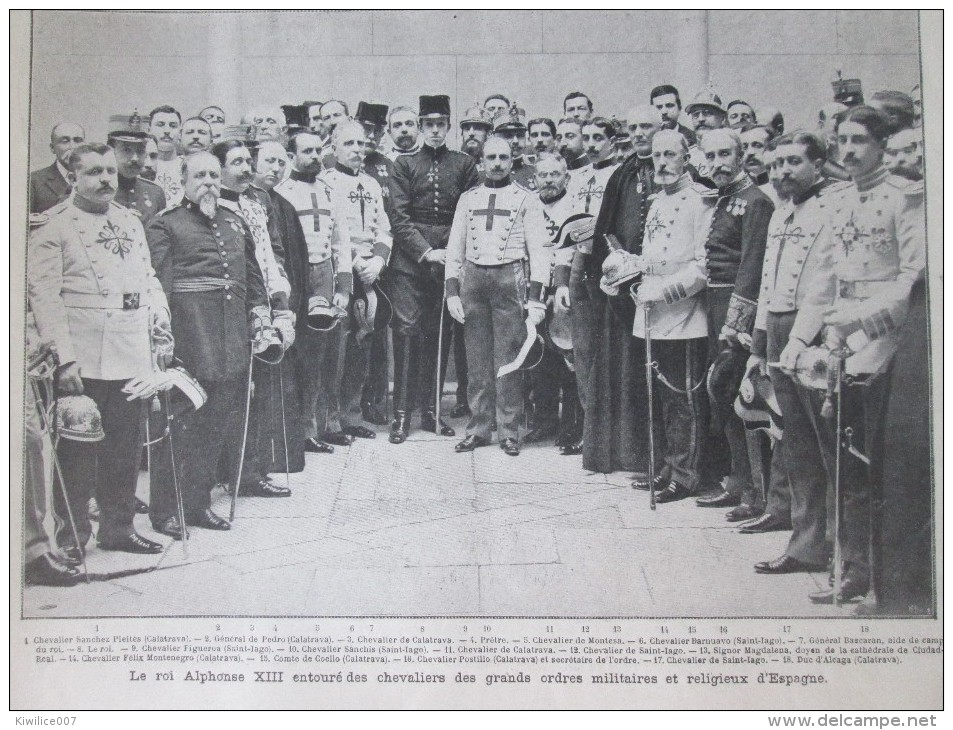1905  ALPHONSE XIII Roi D Espagne 2 Grandes  Photos + 30 Photos .. - Ohne Zuordnung
