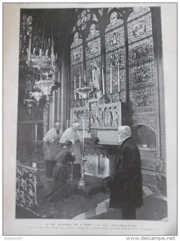 1905  ALPHONSE XIII Roi D Espagne 2 Grandes  Photos + 30 Photos .. - Documentos Antiguos