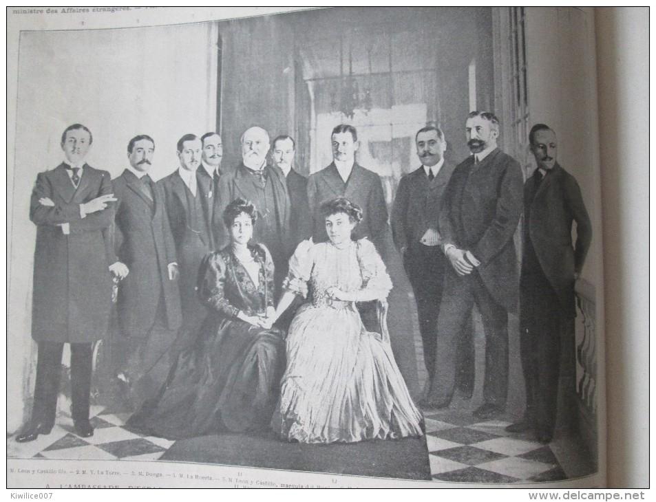 1905  ALPHONSE XIII Roi D Espagne 2 Grandes  Photos + 30 Photos .. - Vieux Papiers