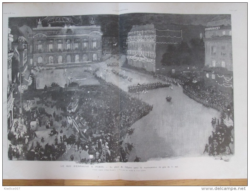 1905  ALPHONSE XIII Roi D Espagne 2 Grandes  Photos + 30 Photos .. - Vecchi Documenti