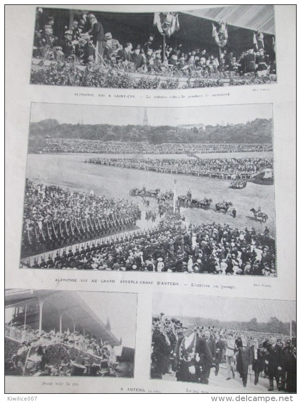 1905  ALPHONSE XIII Roi D Espagne 2 Grandes  Photos + 30 Photos .. - Old Paper
