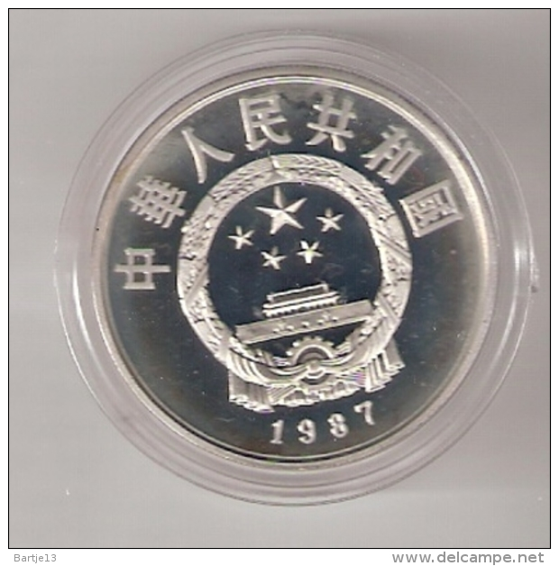 CHINA 5 YUAN 1987 AG PROOF KM173 LI CHUN BRIDGE BUILDER CHINESE CULTURE ONLY 4000 PCS. - Chine