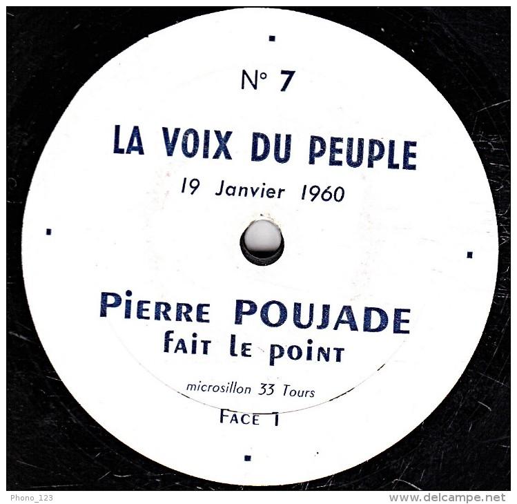 Microsillon 33 T. - 25 Cm - état  TB - PIERRE POUJADE  Fait Le Point - 19 Janvier 1960 Face 1 Et 2 - Limitierte Auflagen
