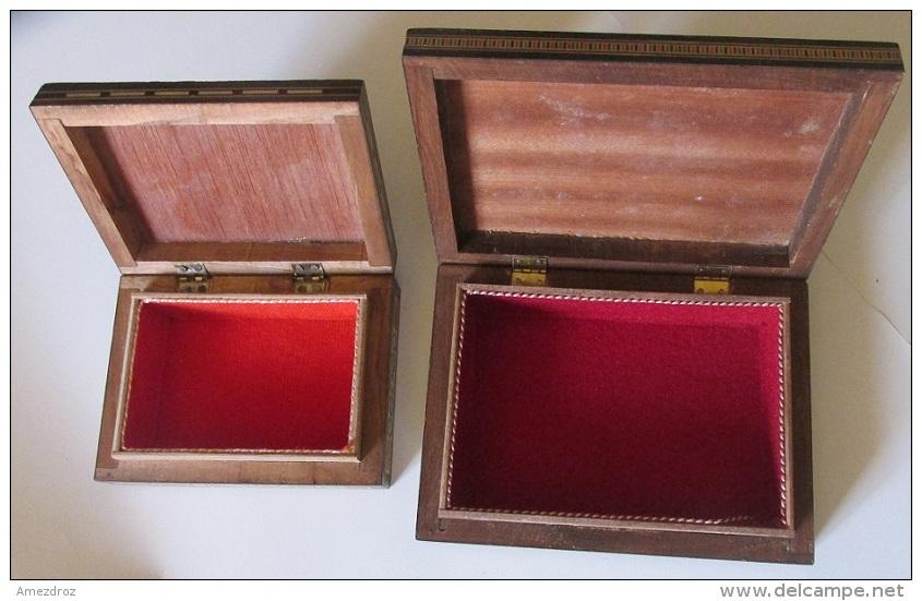 Deux Boites à Ciguarres Du Liban Décorées, Carte Et Drapeaux - Boites à Tabac Vides