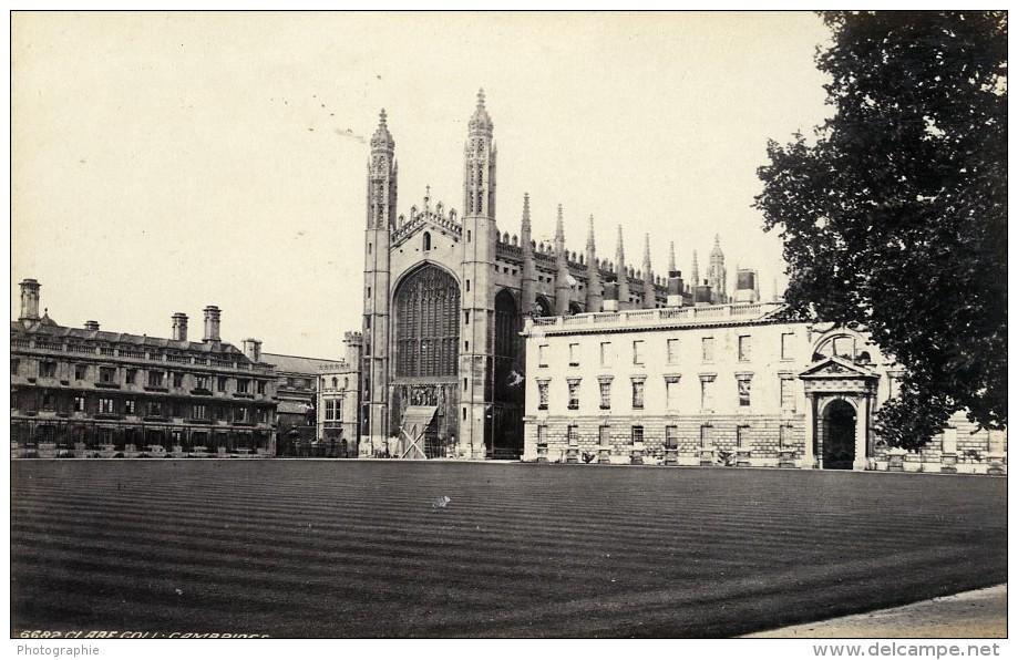 Royaume Uni Cambridge Bridge Of Sighs & Clare College Deux Anciennes Photo Francis Frith 1870 - Photographs