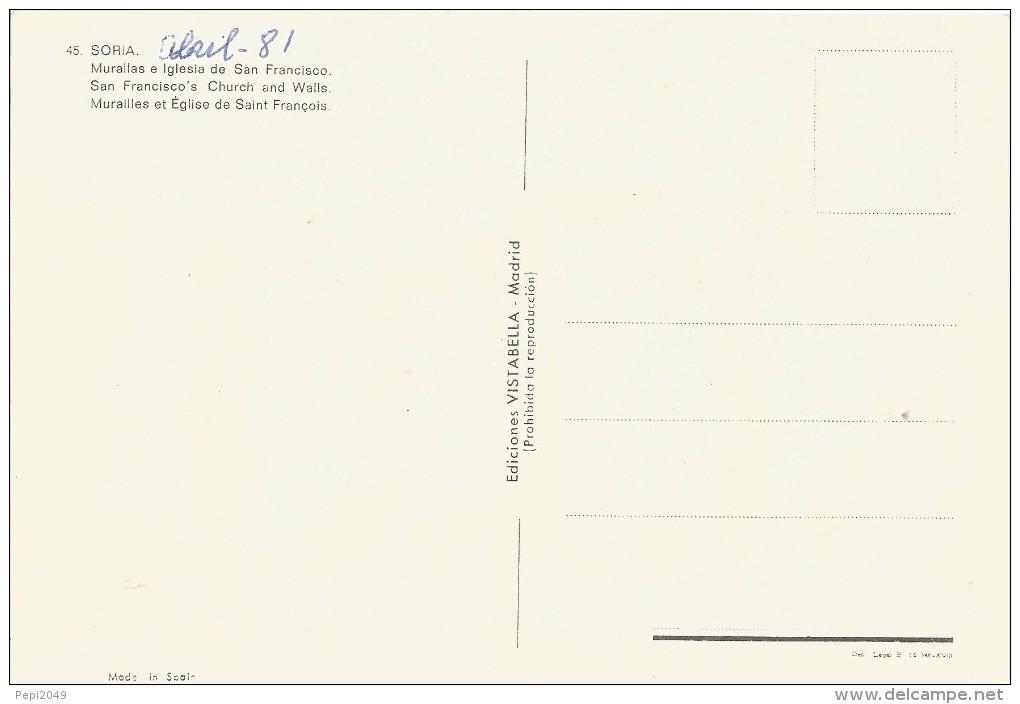 PP149 - POSTAL - SORIA - MURALLAS E IGLESIA DE SAN FRANCISCO - Soria