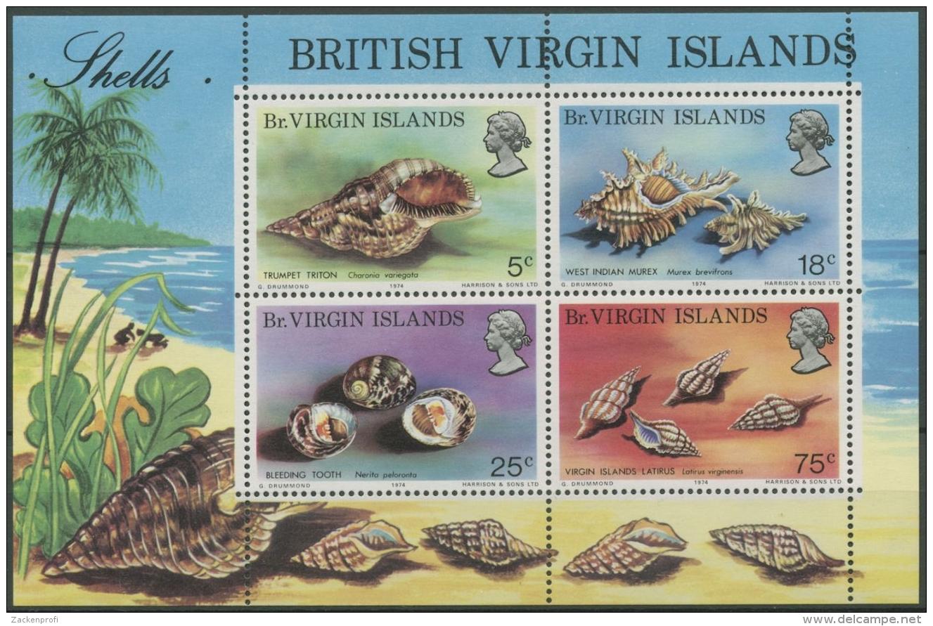 Britische Jungferninseln 1974 Meeresschnecken Block 4 Postfrisch (C12619) - British Virgin Islands