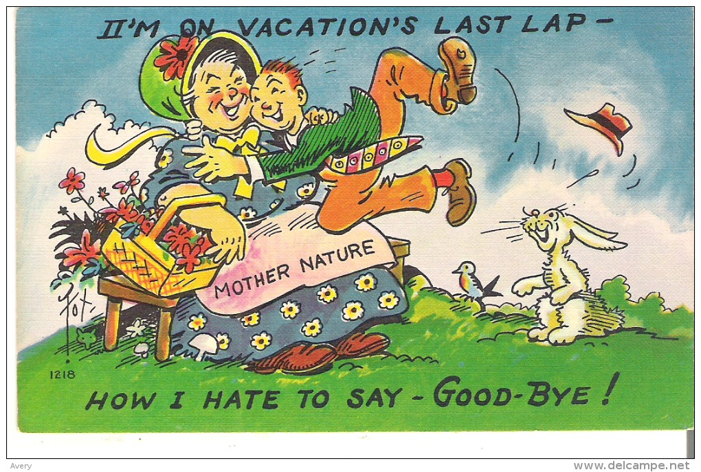 I'm On Vacation's Last Lap - How I Hate To Say - Good-bye! - Humour