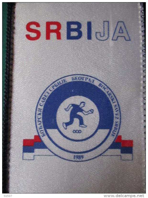 Bocce Ball Alliance Of Serbia-Beograd-1989 -Small Sport Flag 12 X 20 Cm-Bocarski Savez Srbije - Bowls - Pétanque