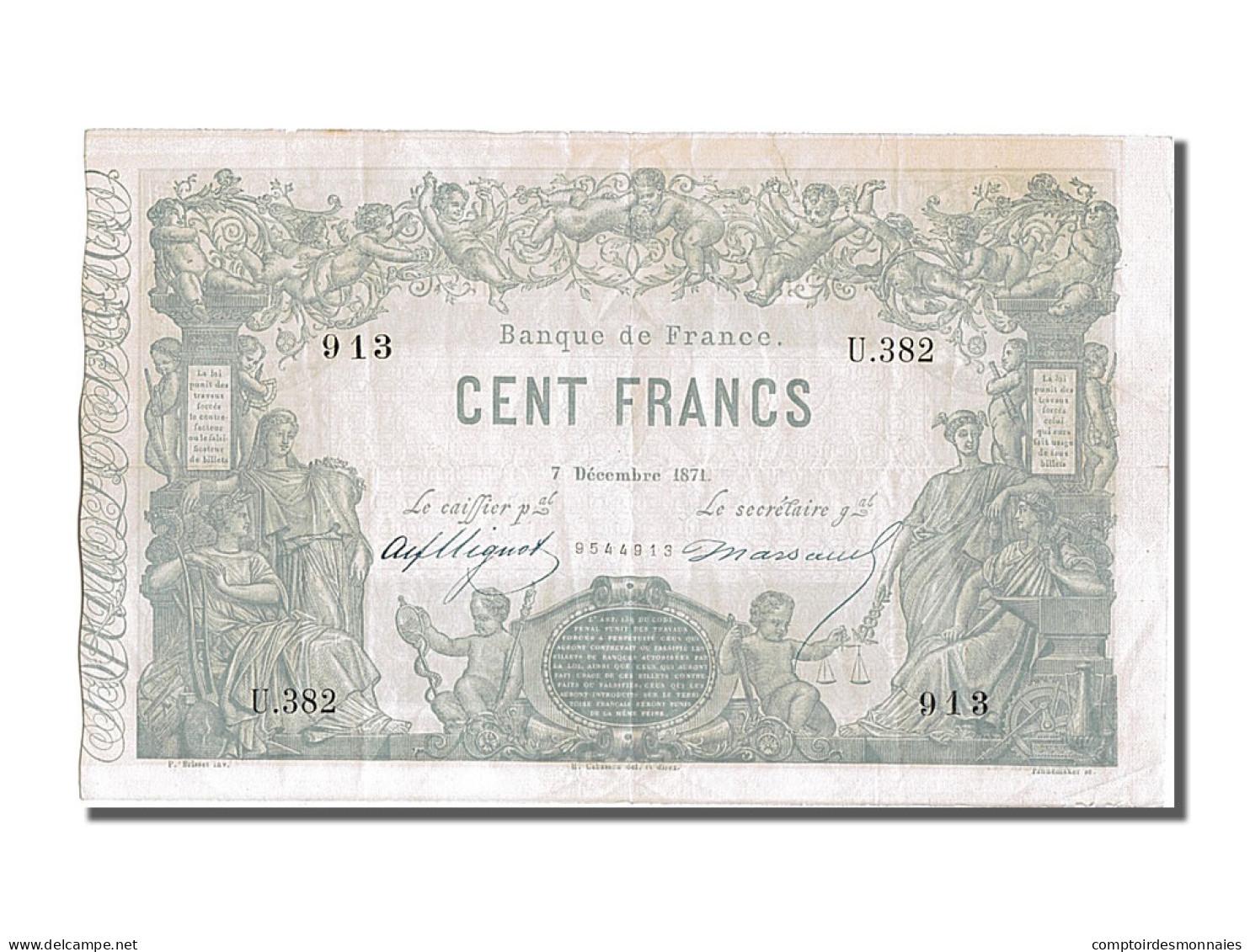 100 Francs Type Indices Noirs - ...-1889 Franchi Antichi Circolanti Durante Il XIX Sec.
