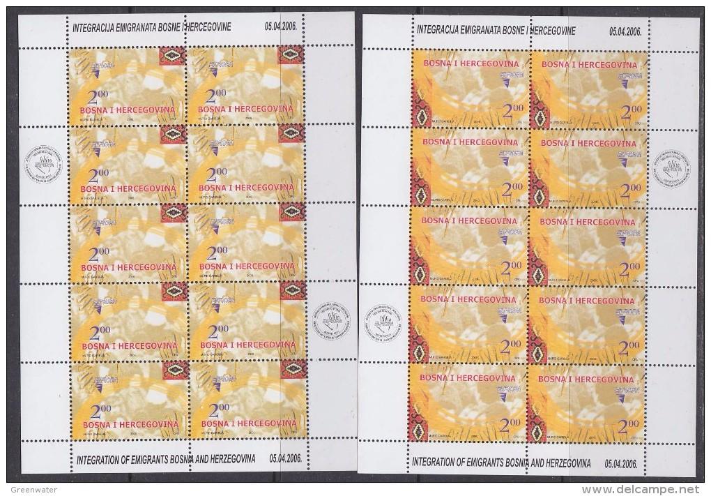 Europa Cept 2006 Bosnia/Herzegovina Sarajevo 2v  2 Sheetlets ** Mnh (F5449) - 2006