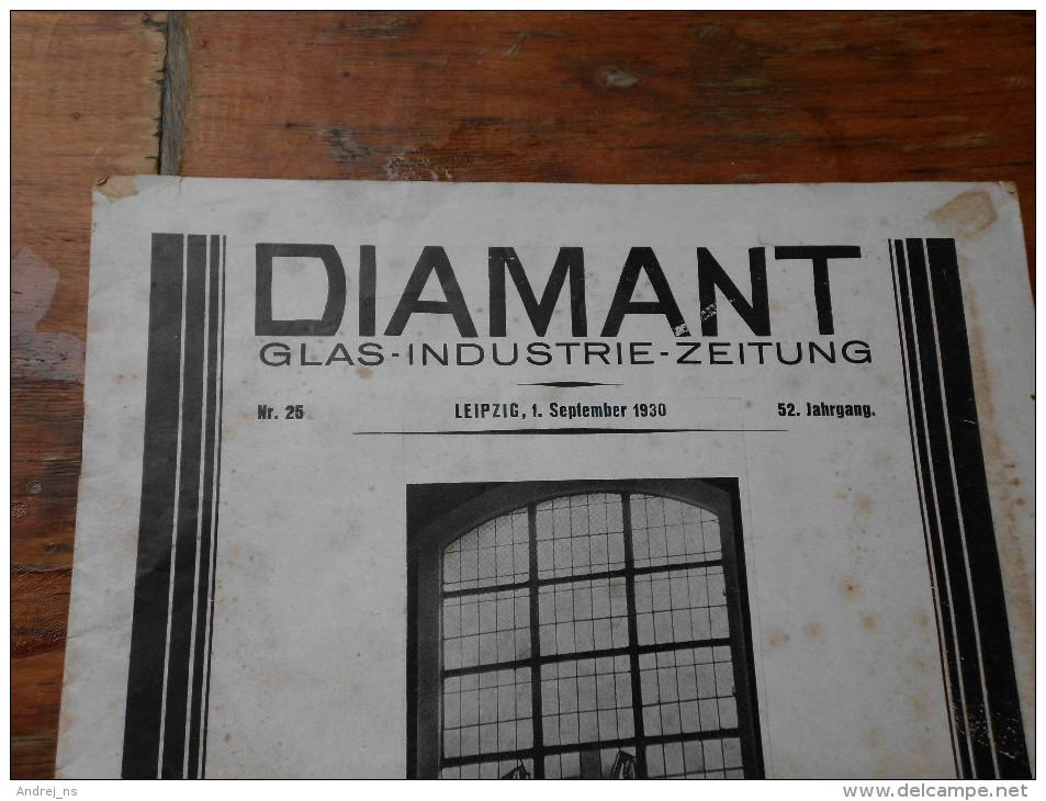 Diamant Glas Industrie Zeitung Leipzig 1930 - Hobbies & Collections
