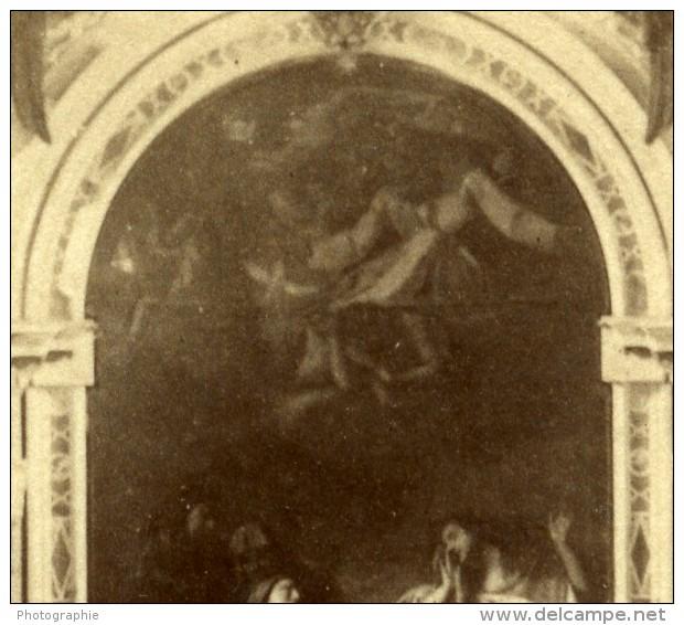 France Fontainebleau Chapelle Interieur Ancienne Photo 1890 - Photographs