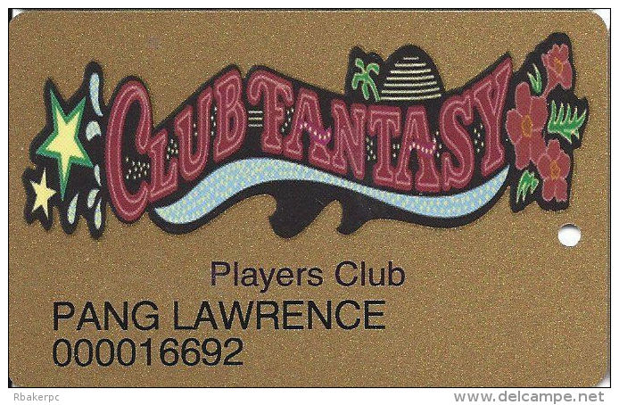 Fantasy Springs Casino - Indio, CA - 2nd Issue Slot Card - No Text Over Mag Stripe - Casino Cards