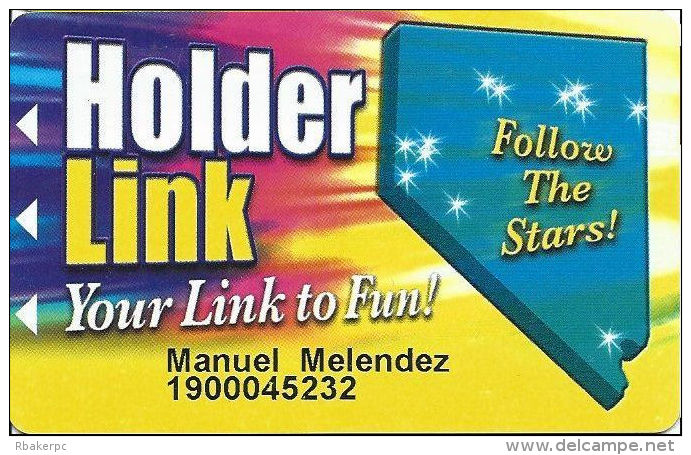 Holder Link Casinos - Nevada - Slot Card - 6 Lines Of Casinos Listed On Back - Casino Cards