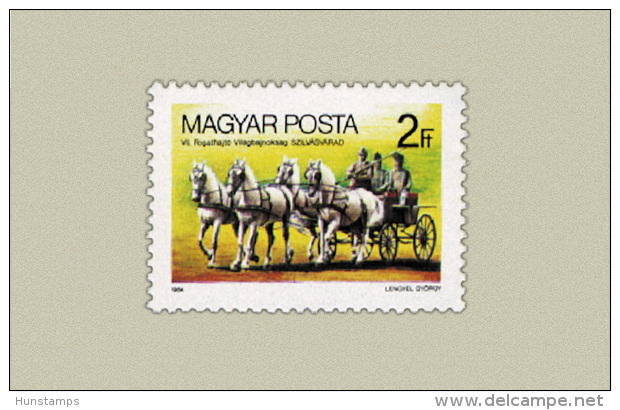 Hungary 1984. Coach - Driving - Animals / Horses Stamp MNH (**) Michel: 3692 / 0.50 EUR - Ungarn