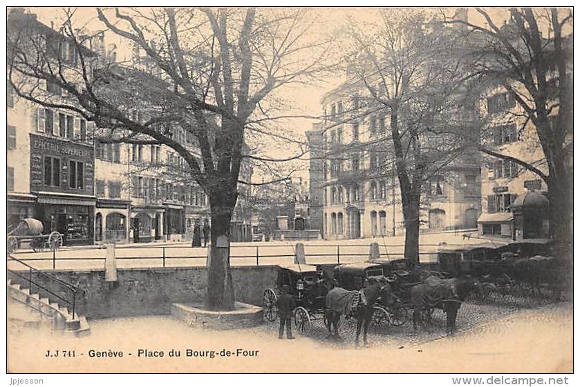 GENEVE  PLACE DU BOURG DE FOUR  ATTELAGES - GE Geneva