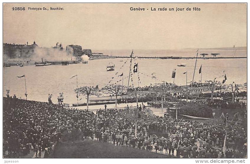 GENEVE   LA RADE UN JOUR DE FETE - GE Genève