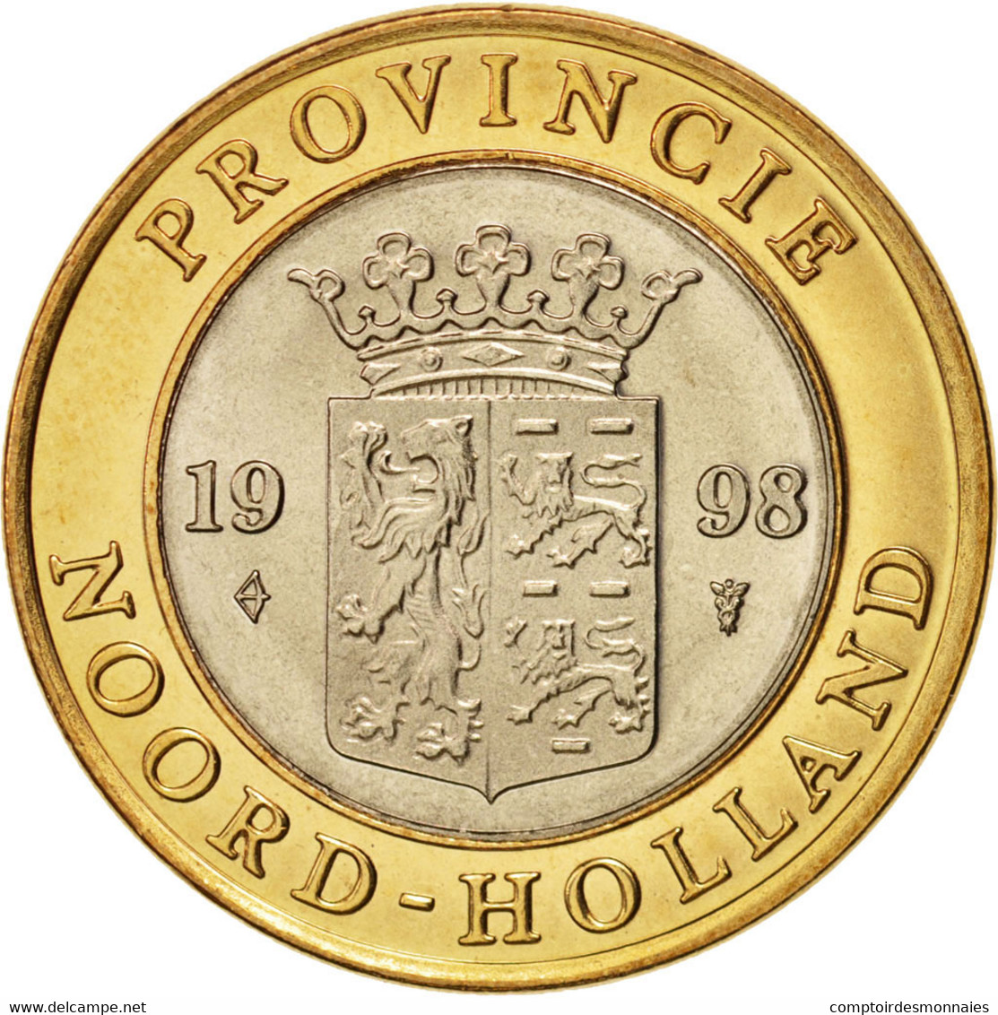 Pays-Bas, Token, Noord-Holland, Mint, 1998, SPL, Bi-Metallic - Pays-Bas