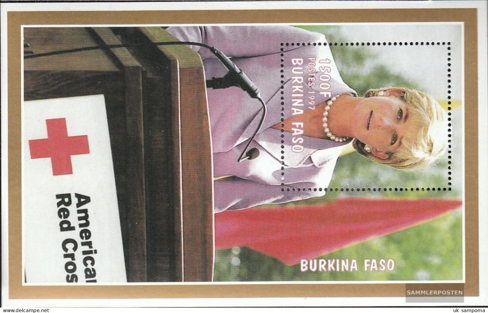 Burkina Faso Block175 (complete Issue) Unmounted Mint / Never Hinged 1998 1. Death Princess Diana - Burkina Faso (1984-...)
