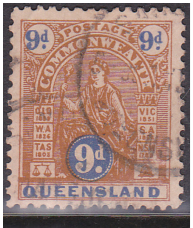 1903-06. Australian States. NSW. Commonwealth Issues. 9d. Brown And Blue. Used. - 1850-1906 New South Wales