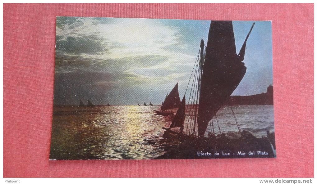 Sailing Sunset  Mar Del Plata Argentina --- Ref  2300 - Argentina