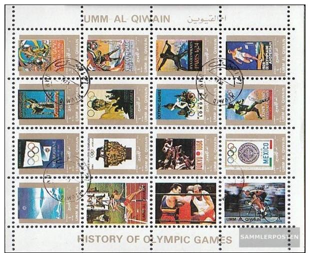 Umm Al Kaiwain 1114A-1129A Minifoglio (completa Edizione) Usato 1972 Storia Olympics. Estate - Umm Al-Qiwain