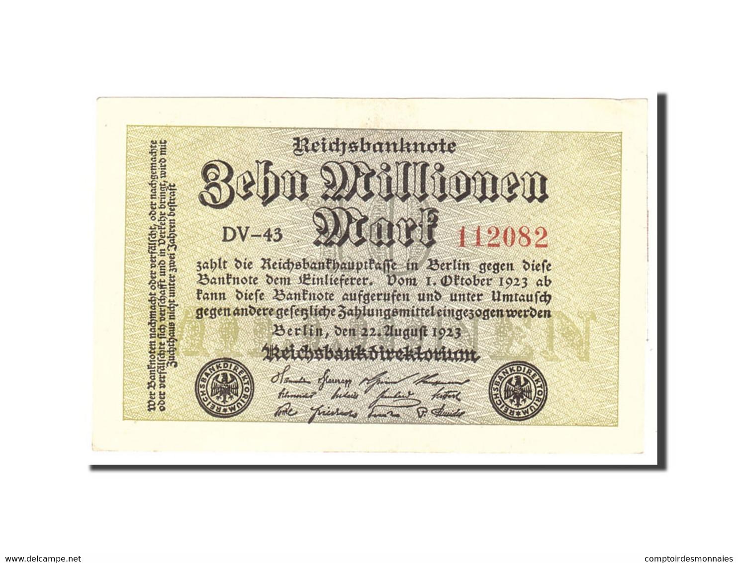 Allemagne, 10 Millionen Mark, 1923, KM:106a, 1923-08-22, TTB+ - 10 Millionen Mark