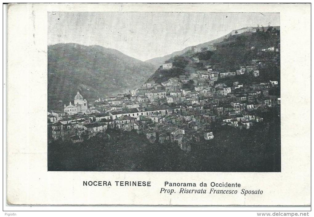 GIL112- NOCERA TERINESE - CATANZARO - FORMATO PICCOLO - VIAGGIATA 1910 - Catanzaro
