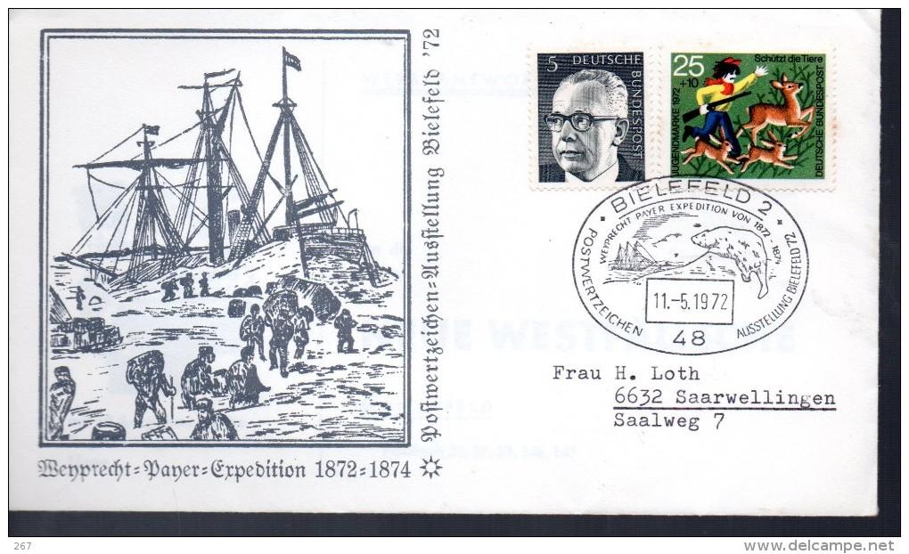 ALLEMAGNE   FDC  1972  Bielefeld 2 Bateaux Ours Polaire - Événements & Commémorations