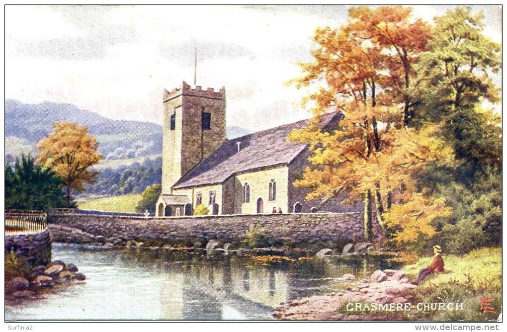 CUMBRIA - GRASMERE CHURCH By E LONGSTAFFE - Cumberland/ Westmorland