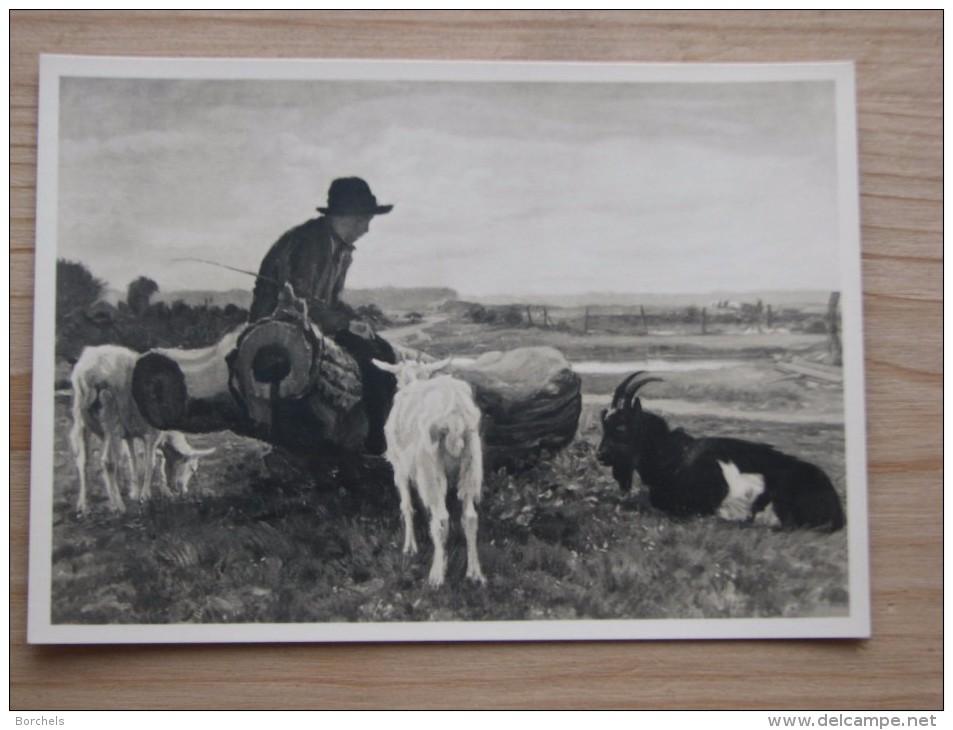 AK1033 - Ziegen Mit Bock Und Hirte - Gemälde Von Junghanns. - Ungelaufen - Topp Erhalten - Tierwelt & Fauna