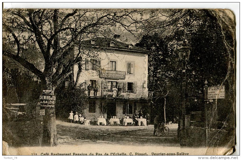 VEYRIER SOUS SALEVE  -  CAFE RESTAURANT PENSION DU PAS DE L' ECHELLE - Veyrier