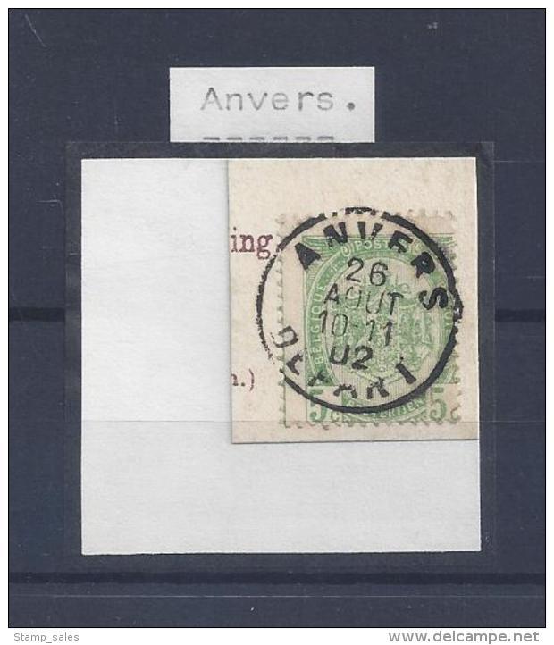 N°56 (ntz) GESTEMPELD Anvers - 1893-1907 Armoiries