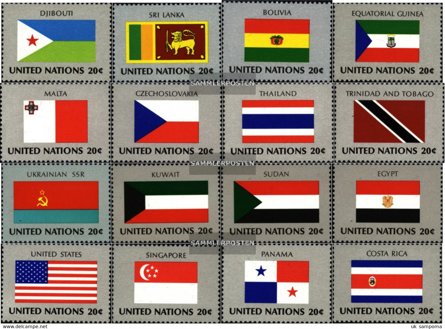 UN - New York 373-388 (complete Issue) Unmounted Mint / Never Hinged 1981 Member States - Unused Stamps