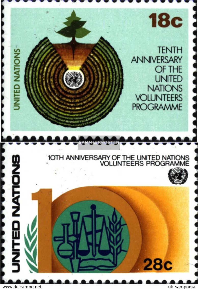 UN - New York 389-390 (complete Issue) Unmounted Mint / Never Hinged 1981 Development - New York – UN Headquarters
