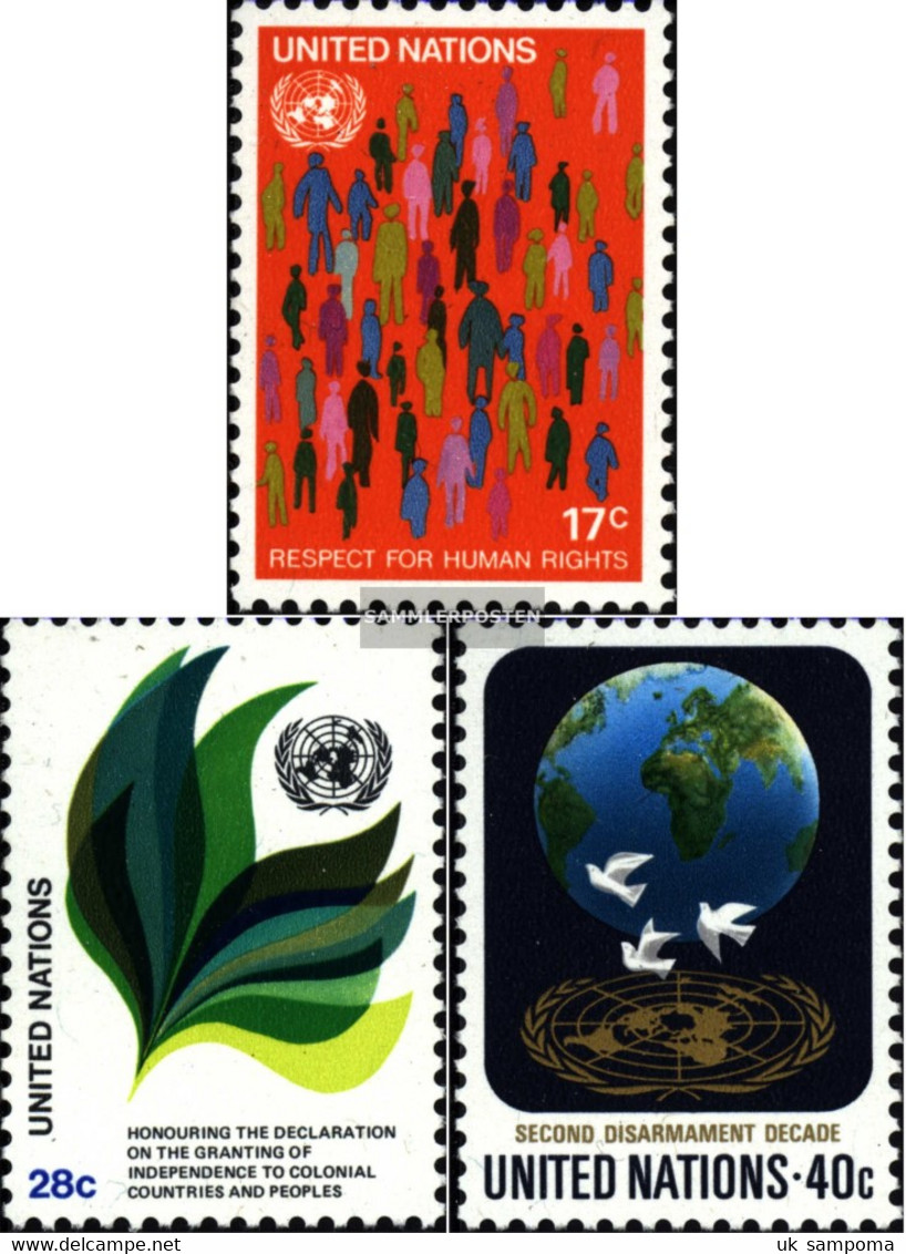UN - New York 391-393 (complete Issue) Unmounted Mint / Never Hinged 1982 Human Rights - New York – UN Headquarters