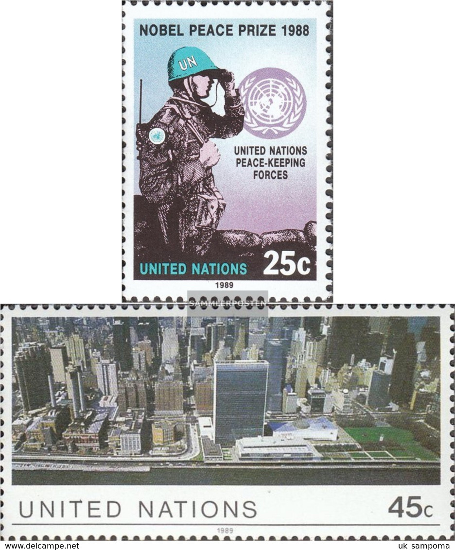 UN - New York 573,574 (complete Issue) Unmounted Mint / Never Hinged 1989 Peacekeepers - New York – UN Headquarters