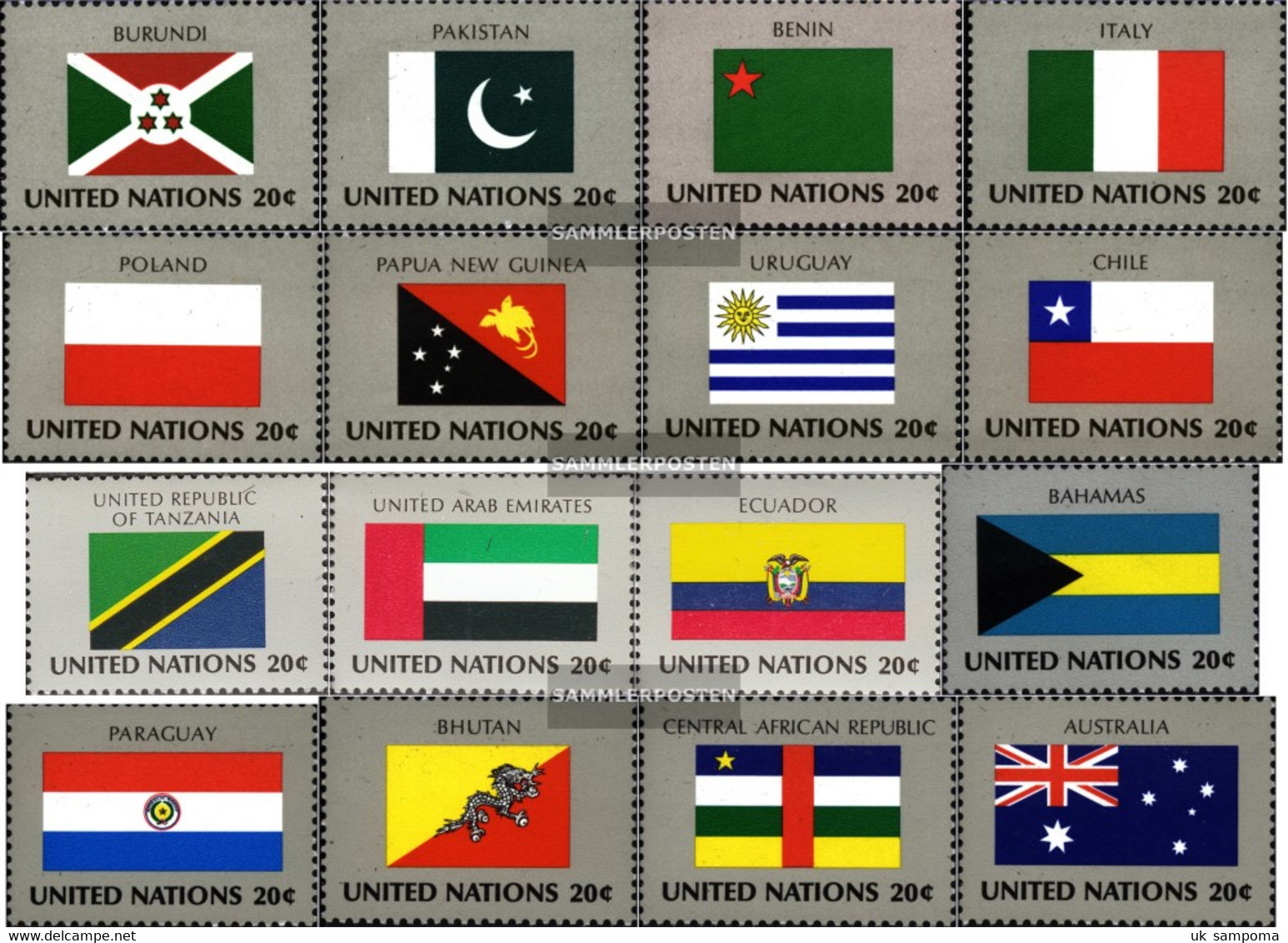 UN - New York 448-463 (complete Issue) Unmounted Mint / Never Hinged 1984 Member States - New York – UN Headquarters