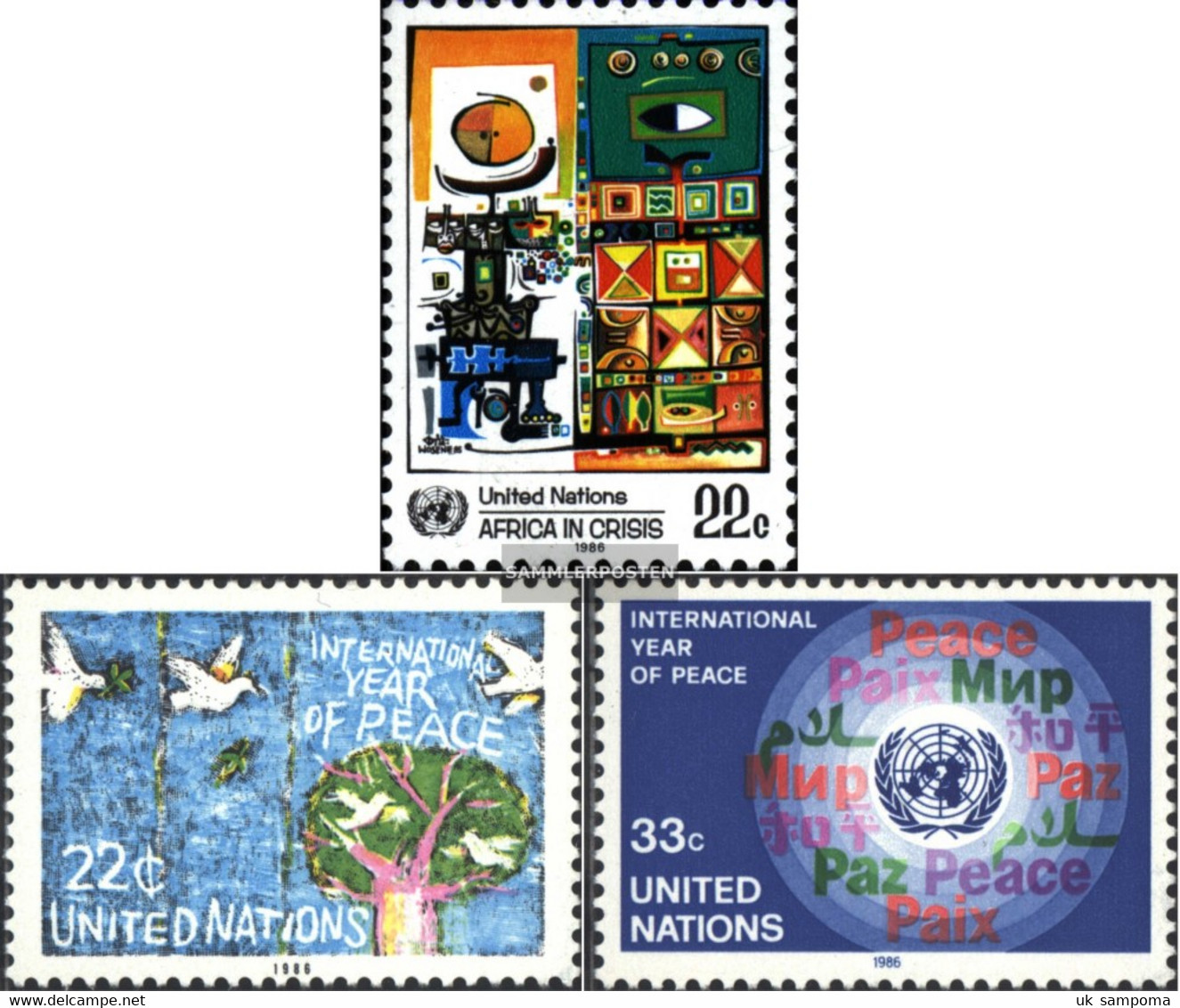 UN - New York 490,497-498 (complete Issue) Unmounted Mint / Never Hinged 1986 Special Stamps - New York – UN Headquarters