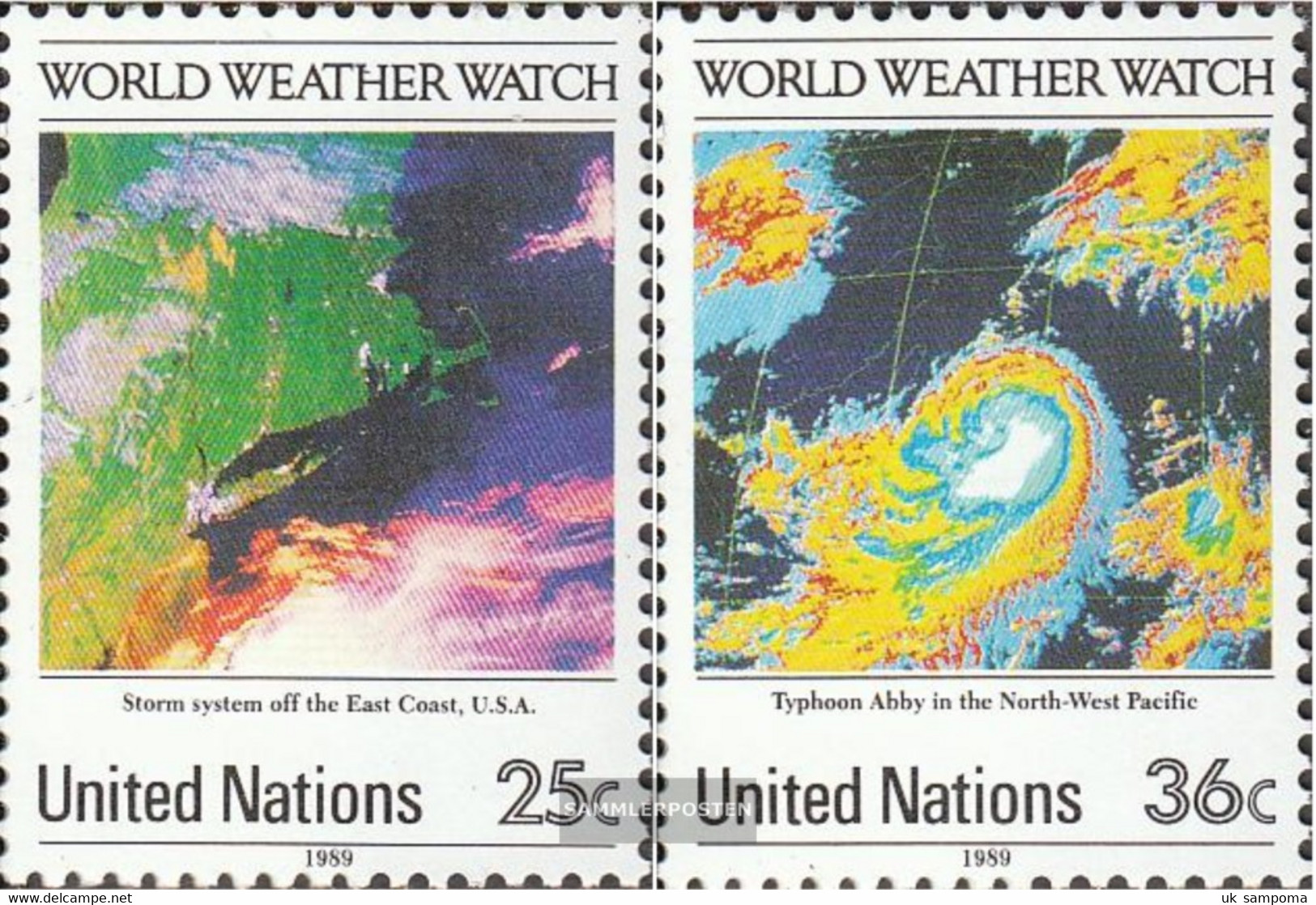 UN - New York 575-576 (complete Issue) Unmounted Mint / Never Hinged 1989 World-Weather-Wacht - New York – UN Headquarters