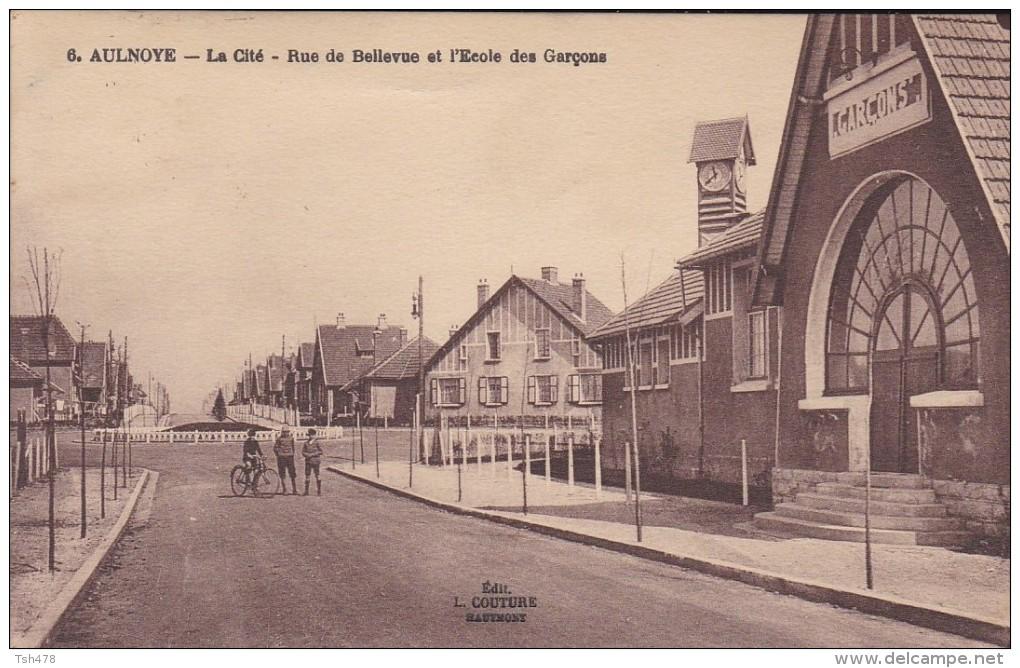59----AULNOYE----la Cité-rue De Bellevue Et L´école Des Garçons---voir 2 Scans - Aulnoye
