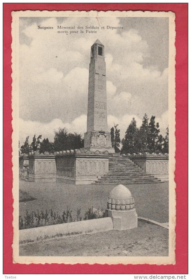 Soignies - Mémorial Des Soldats Et Déportés Morts Pour La Patrie ( Voir Verso ) - Soignies
